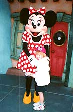 Minnie Mouse is so sweet.